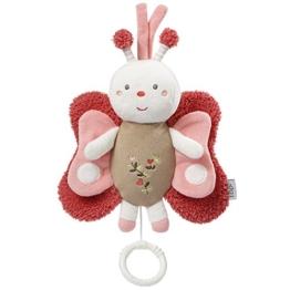 Fehn 068047 Spieluhr Schmetterling / Aufzieh-Spieluhr mit herausnehmbarem Spielwerk zum Aufhängen, Kuscheln und Greifen, für Babys und Kleinkinder ab 0+ Monaten - 1