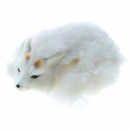 Fenteer Plüsch Tier Fuchs Polarfuchs Kuscheltier Spielzeug, Plüschfuchs aus Kunstpelz, Dekoration für Schlafzimmer, Wohnzimmer, usw. - 1