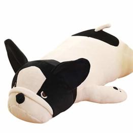 FINIVE Plüschtier Plüsch Bauch Bulldogge Stofftier Puppe Nap Rückenkissen Kissen Kinder Spielzeug Geschenk 50cm - 1