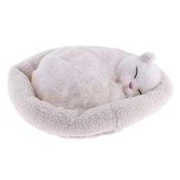 FLAMEER Süße Plüschtier Katze / Hund schlafende Tiere Kuscheltier Plüschfigur Spielzeug - Perserkatze - 1