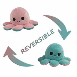 Flip Plüsch Oktopus Spielzeug Puppe Doppelseitiger Flip Reversibel Sanft Tintenfisch Kinder Süß Tier Cartoon Spielzeuge 1 Stück Geschenk Kinderspielzeug - 1