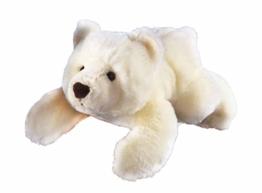 GLOREX 0 4513-1 - Kuscheltier zum Selberstopfen Eisbär Sven, ca. 28 cm groß, aus hochwertigem Plüsch genäht, muss nur noch befüllt werden, mit Geburtsurkunde - 1