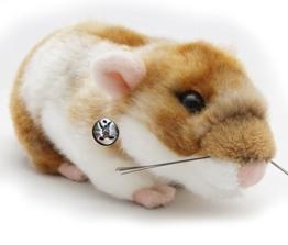 Goldhamster BLÜMCHEN Hamster 18 cm Plüschtier von kuscheltiere.biz - 1