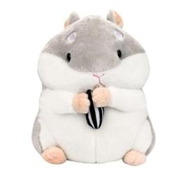 Gusspower Plüsch Hamster, 23cm entzückende Kawaii Fluffy Hamster weichem Plüsch Spielzeug Puppe niedlich gefüllte Spielzeug Geschenke Kindertag (Grau) - 1