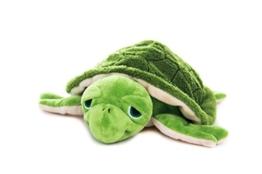 Habibi Plush Premium - 1836 Wasserschildkröte grün - mit herausnehmbarem Körnerkissen - Wärmestofftier zum Erwärmen in der Mikrowelle/Backofen - 1