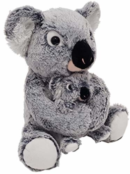 Heunec 247673 MISANIMO Koala Bär mit Kind 27 cm, mehrfarbig - 1