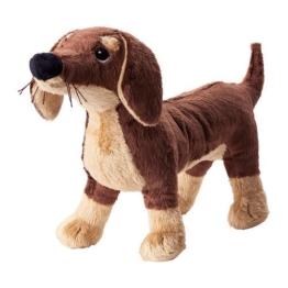 Ikea SMASLUG - Soft toy, dog, brown - 72x40x108 cm - 1