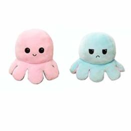Incor Oktopus Plüschtier Flip Mood Kuscheltier Wendbare Double Sided Plush Toy Spielzeug Niedlich Kleine Kinderspielzeug Geschenk Belohnung Freundin - 1