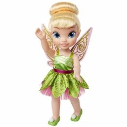 Jakks 84774 - Disney Fairies Tinkerbell, Puppe ca. 35 cm groß, beweglich, mit wunderschönem Kleid und Royal Reflection Augen, für Kinder ab 3 Jahre - 1