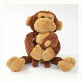 Kögler 75955 - Laber Affe mit Baby Nana und Coco, Labertier mit Aufnahme- und Wiedergabefunktion, plappert alles witzig nach, ca. 23 cm groß, ideal als Geschenk für Jungen und Mädchen - 1