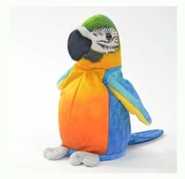 Kögler 75956 - Laber Papagei Sunny, Labertier mit Aufnahme- und Wiedergabefunktion, plappert alles witzig nach und bewegt sich, ca. 21 cm groß, ideal als Geschenk für Jungen und Mädchen - 1