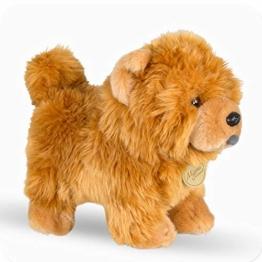 Ksydhwd Kuscheltier 25 cm Chow Chow Puppe Gefüllte Niedliche Tier Welpe Plüschtier Niedliche Simulation Hund Flauschige Puppen Geburtstag Weich - 1