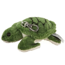 Kuscheltier Schlüsselanhänger Schildkröte 12 cm grün Plüschschildkröte - 1