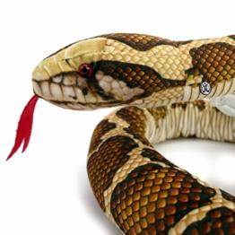 Kuscheltiere.biz Tigerpython ZÜNGLI Schlange Plüschschlange Python 150 cm Plüschtier - 1