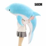 KUYG Kissen Spielzeug,Simulationsdelphin Plüschtiere für Kinder Sofamöbel Dekoration Plüsch Delfin Cuddlekins Kuscheltier - 1