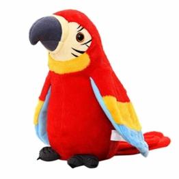 Kylewo Plüsch Papagei Spielzeug Plüschvogel Papagei Vogel Plüschtiere Kuscheltiere Spielze,Talking Parrot Plüsch Spielzeug für Kinder - 1