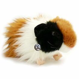 Langhaar Meerschweinchen PITTI schwarz-braun-weiß 19 cm Plüschtier von kuscheltiere.biz - 1