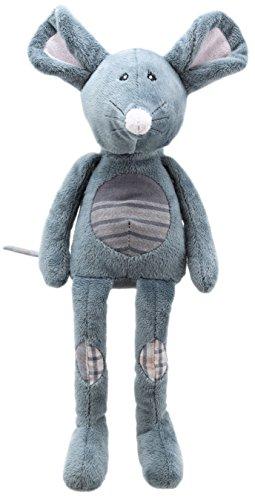 Lashuma Plüschtier Kuschelmaus Grau, Stofftier Maus mit Schlenker Armen und Beinen, Kuscheltier Mäuschen Größe 32 cm - 1