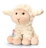 Lashuma Plüschtier Lamm Woolly, Weißes Schaf, Kuscheltier Pippins 14 cm - 1