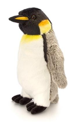 Lashuma Plüschtier Pinguin Grau - Weiß, Keel Toys Kuscheltier Kaiser Plüschpinguin 30 cm - 1