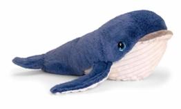 Lashuma Plüschtier Wal, Kuscheltier Blauer Fisch, Stofftier Keel Toys 25 cm - 1