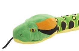Lashuma Snakesss Plüschtier Anakonda, Kuscheltier Schlange 137 cm, Stofftier Riesenschlange Grün Gelb, XXL Plüsch Reptil - 1