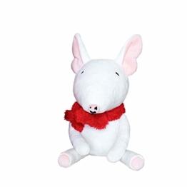 letaowl Plüschtier 1pc Weiße Bullterrier-hundepuppe Kuscheltier Soft Puppy Dog Für Kinder Soft Push-hundepuppe Geburtstagsgeschenk - 1