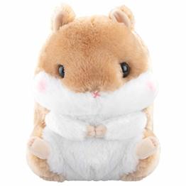 Meralens Stofftier Plüschtier Hamster Braun Kuscheltier Farbe - Braun Kuscheltier Manga Anime Otaku Kawaii Stofftier Plüschtier Plüsch Plush Original aus Japan Höhe 30cm - 1