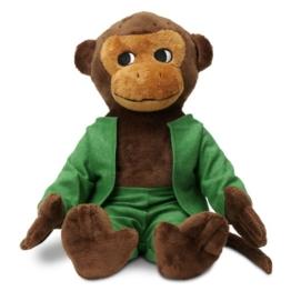 Micki & Friends 44371700 - Herr Nilsson Puppe 23 cm - Pippi Langstrumpfs AFFE als Stoffpuppe - Teddy - Plüschpuppe Kuscheltier - abnehmbare Kleidung - ab 0+ Monate - 1