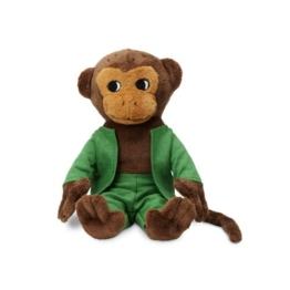 Micki & Friends 44371800 - Herr Nilsson Puppe 16 cm - Pippi Langstrumpfs AFFE als Stoffpuppe - Teddy - Plüschpuppe Kuscheltier - abnehmbare Kleidung - ab 0+ Monate - 1