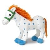 Micki & Friends 44371900 - Kleiner Onkel Puppe 30 cm - Pippi Langstrumpfs Pferd als Stoffpuppe - Teddy - Plüschpuppe Kuscheltier - ab 0+ Monate - 1