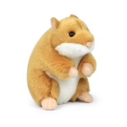 Mimex 15201023 WWF14792 - Plüsch, Hamster-sitzend, 11,5 cm, braun - 1