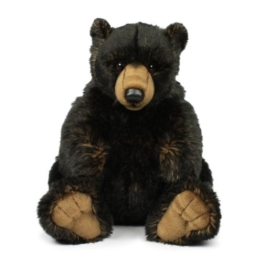 Mimex WWF14791 - Plüsch, Grizzlybär, 32 cm, schwarz - 1