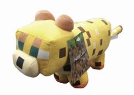 Minecraft - Plüschtiere 30 cm Charaktere Steve, Alex, Creeper, Enderman, Wolf, Lama, Ocelot, Schweinefleisch - Weiche Qualität (Ozelot) - 1