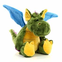 Minifeet Drache Ragnar - Kuscheltier Plüschtier Spielzeug - Dragon Abenteuer Geschenk für Kinder Baby Mädchen Junge Geburt Geburtstag - kuschelig weich - 1