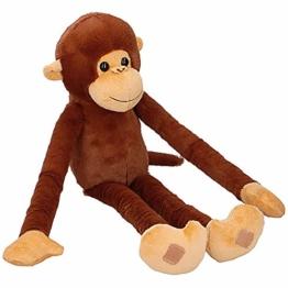 Murago Plüsch AFFE mit Kletthänden ca. 55cm Stofftiere Plüschtiere Kuscheltiere Hängeaffen Schimpanse hängend Lange Arme - 1