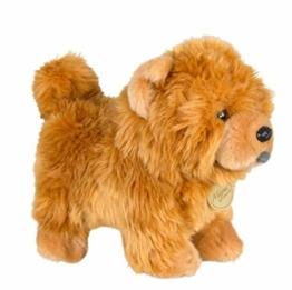 nanyin Chow Chow Puppe Frise Welpe Kuscheltier Hund Plüschtier 20 * 25Cm, Niedlich Simulation Haustiere Flauschige Puppen Geburtstagsgeschenke - 1