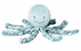 Nattou 878746 Lapidou Kuscheltier Oktopus, Für Neugeborene und Frühchen, 23 cm, Mintgrün - 1