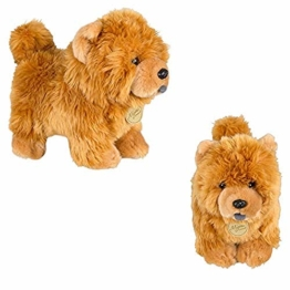 NC86 Spielzeug Chow Chow Puppe Frise Welpe Kuscheltier Hund Plüschpuppe Spielzeug Zuverlässig Süße Simulation Haustiere Flauschige Puppen Weiß - 1