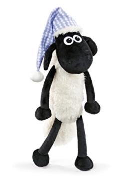 NICI 41465 Shaun das Schaf Kuscheltier mit Schlafmütze, 35 cm, Farbe: Weiß/Schwarz - 1