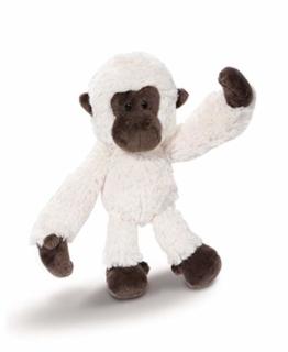 NICI 43622 Kuscheltier Gibbon, 20 cm, weiß/braun - 1