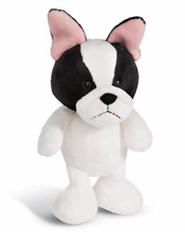 NICI 45101 Kuscheltier Französische Bulldogge 20cm, Plüschtier für Mädchen, Jungen und alle Hundeliebhaber, weiß - 1