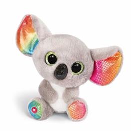 NICI 46319 Glubschis Kuscheltier Koala Miss Crayon 15cm, Flauschiges Plüschtier mit großen Glitzeraugen, süßes Stofftier für Kinder und Kuscheltierliebhaber, grau/bunt - 1