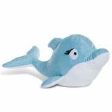 NICI Kuscheltier Delfin Del-Finchen 30 cm – Delfin Plüschtier für Mädchen, Jungen & Babys – Flauschiges Stofftier zum Kuscheln, Spielen & Schlafen – Schmusetier liegend – ab 0 Monaten – 45358 - 1