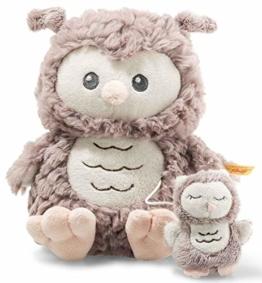 Ollie Eule Spieluhr - 21 cm - Kuscheltier für Babys - Soft Cuddly Friends - weich & nicht waschbar - rosebraun (241840) - 1