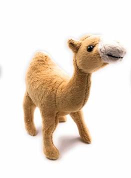 Onwomania Plüschtier Kuscheltier Stoff Tier Dromedar Kamel braun 23 cm - 1