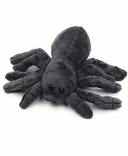 Onwomania Plüschtier Kuscheltier Stoff Tier Spinne Vogelspinne schwarz 20 cm - 1