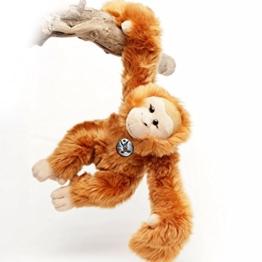 Orang Utan BORNEO Affe Menschenaffe 42 cm Schlenkeraffe Hangelaffe Acrobats Plüschtier von Kuscheltiere.biz - 1