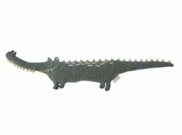 OyOy Mini Mr. Crocodile Gustav - Süßes Baby Kinder Kissen Krokodil Kuschelkissen und Schmusekissen Grün - Baumwolle 90 x 17 x 14 cm - 1