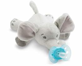 Philips Avent Snuggle Elefant SCF348/13, Kuscheltier mit Schnuller ultra soft, ideales Geschenk für Neugeborene und Babys, Schnullertier - 1